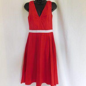 MIU MIU RED FIT AND FLARE DRESS SIZE 44